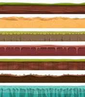Terrains et terrains sans soudure pour le jeu de l'interface utilisateur