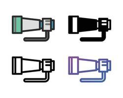 pack d'icônes d'objectif de caméra vecteur