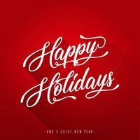 Joyeuses fêtes lettrage carte de voeux vecteur
