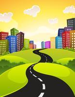 Route de la ville vecteur