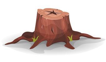 Souche d'arbre comique