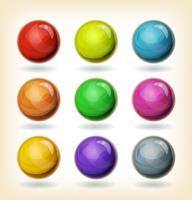 Ensemble de boules multicolores vecteur