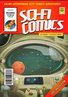 Modèle de couverture de livre de bande dessinée comique vecteur
