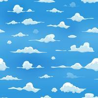 Nuages sans soudure sur fond de ciel bleu vecteur