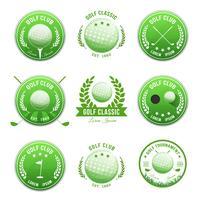 Ensemble de bannières et de badges de clubs de golf
