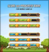 Barres de score et de progression pour le jeu Ui vecteur
