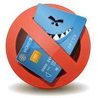 Carte de crédit non autorisée vecteur