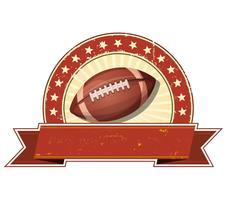 Football américain Grunge et bannière vintage