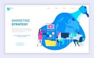 Bannière Web sur la stratégie marketing