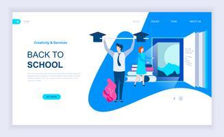 Bannière Web pour la rentrée scolaire vecteur