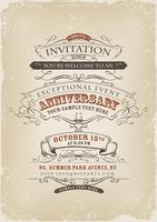 Affiche Invitation Vintage vecteur