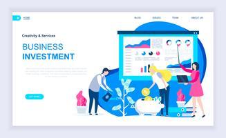 Bannière Web sur les investissements commerciaux vecteur