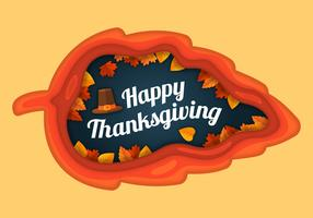 Illustration de Thanksgiving dans un style de papier