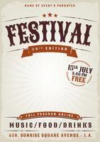 Affiche du festival de musique Grunge vecteur