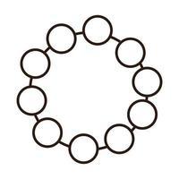 collier accessoire bijoux femme ligne icône vecteur