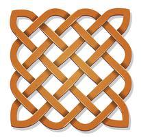 Square celtique avec texture vecteur