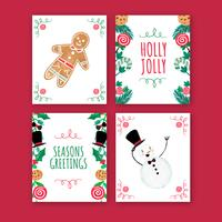 Collection de cartes de Noël mignonnes
