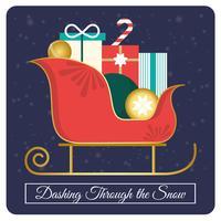 Conception de cartes de voeux de Noël de vecteur