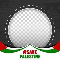 sauver cadre photo palestine vecteur