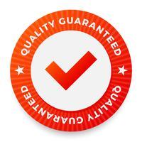 Label de qualité, tampon rond pour produits de haute qualité