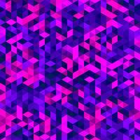 Mosaïque de vecteur polygonale, texture triangle, motif géométrique