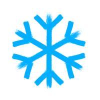 Symbole de vecteur de flocon de neige, icône de neige de Noël