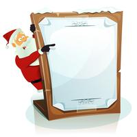 Père Noël pointant sur fond de Noël