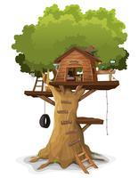 Cabane dans les arbres vecteur