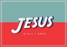 jesus lettrage vol 4 vecteur