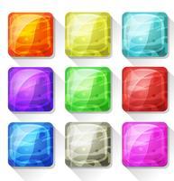 Icônes fantaisie et boutons pour application mobile et interface utilisateur de jeu