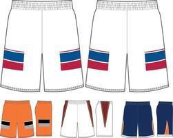 maquettes de shorts de cage de crosse vecteur