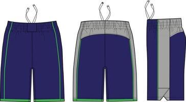 maquettes de shorts de crosse shakedown vecteur