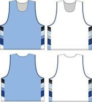 jersey de crosse d'été simple épaisseur réversible vecteur