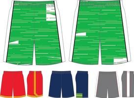 maquettes de shorts de club de crosse vecteur