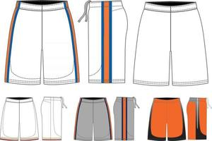 maquettes de shorts de crosse vecteur
