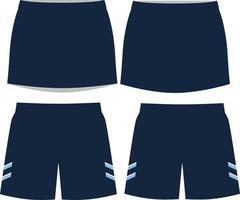shorts émeri de crosse et maquettes de kilt vecteur