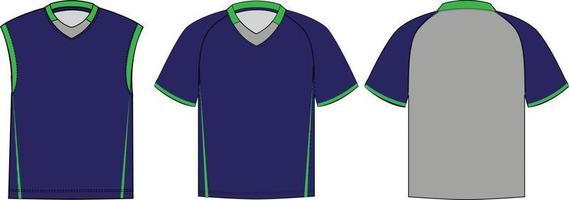 maquettes de chemises de crosse shakedown vecteur