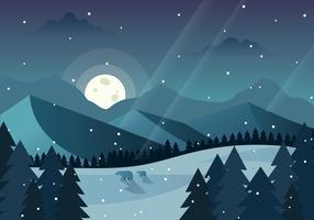 Illustration de la forêt d'hiver vecteur
