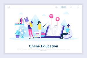 Concept de design plat moderne d'éducation en ligne