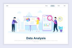Concept de design plat moderne d'analyse de données