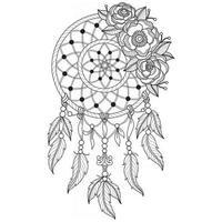 dreamcatcher dessiné à la main pour un livre de coloriage pour adultes vecteur