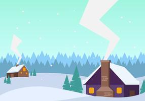 Super vecteurs de village d'hiver vecteur