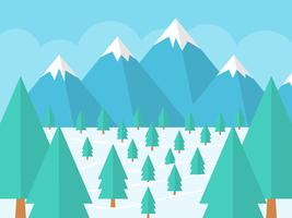 Vecteurs de forêt d'hiver mignons vecteur