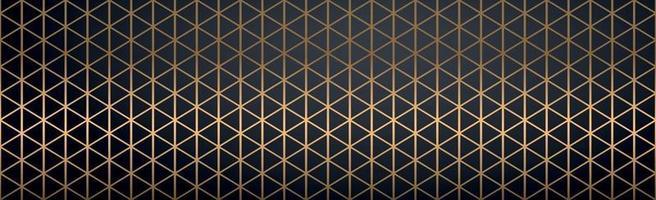lignes dorées abstraites sur fond noir - vector