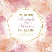 Aquarelle géométrique Vector Save the Date Card