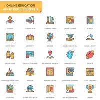jeu d'icônes de l'éducation et de la connaissance