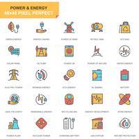 Jeu d'icônes de l'industrie de l'énergie vecteur