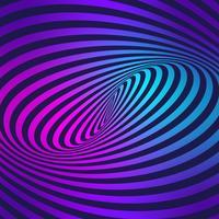 Rayures mouvement illusion fond coloré vecteur