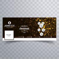 Joyeux Noël avec le modèle de bannière facebook