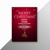Beau modèle de festival joyeux Noël flyer design vecteur